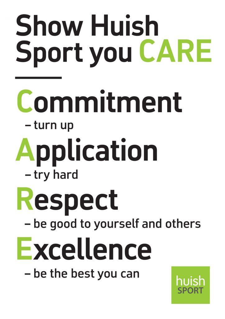 Huish Sport Values Poster