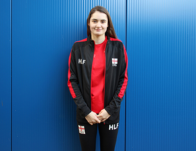 U19 England Junior Volleyball player, Holly Lovell-Fox