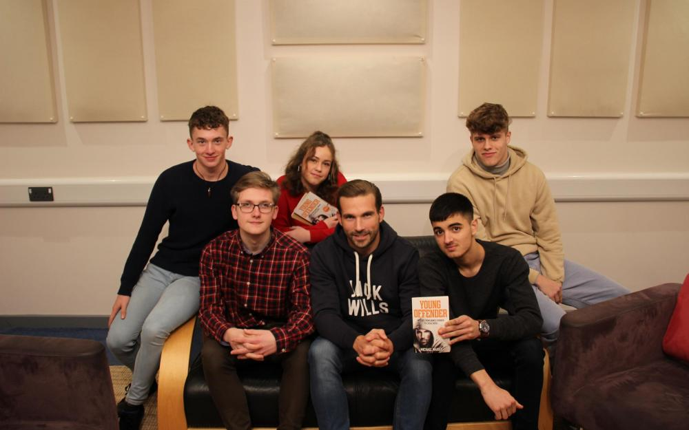 Motivational speaker inspires Huish students to create podcast