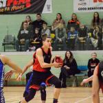 Huish Tigers Basketballer running with basketball