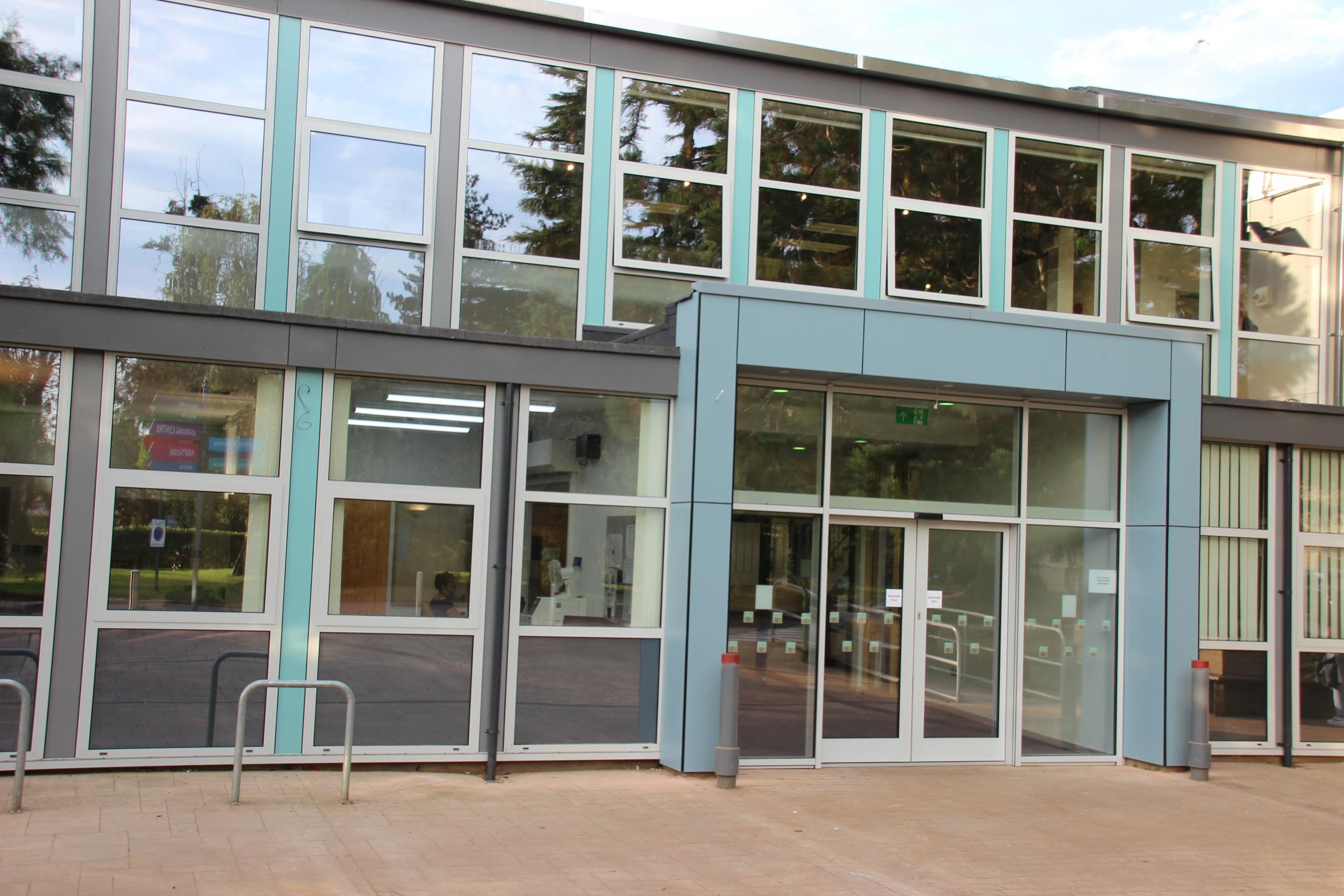 Redwood Reception entrance