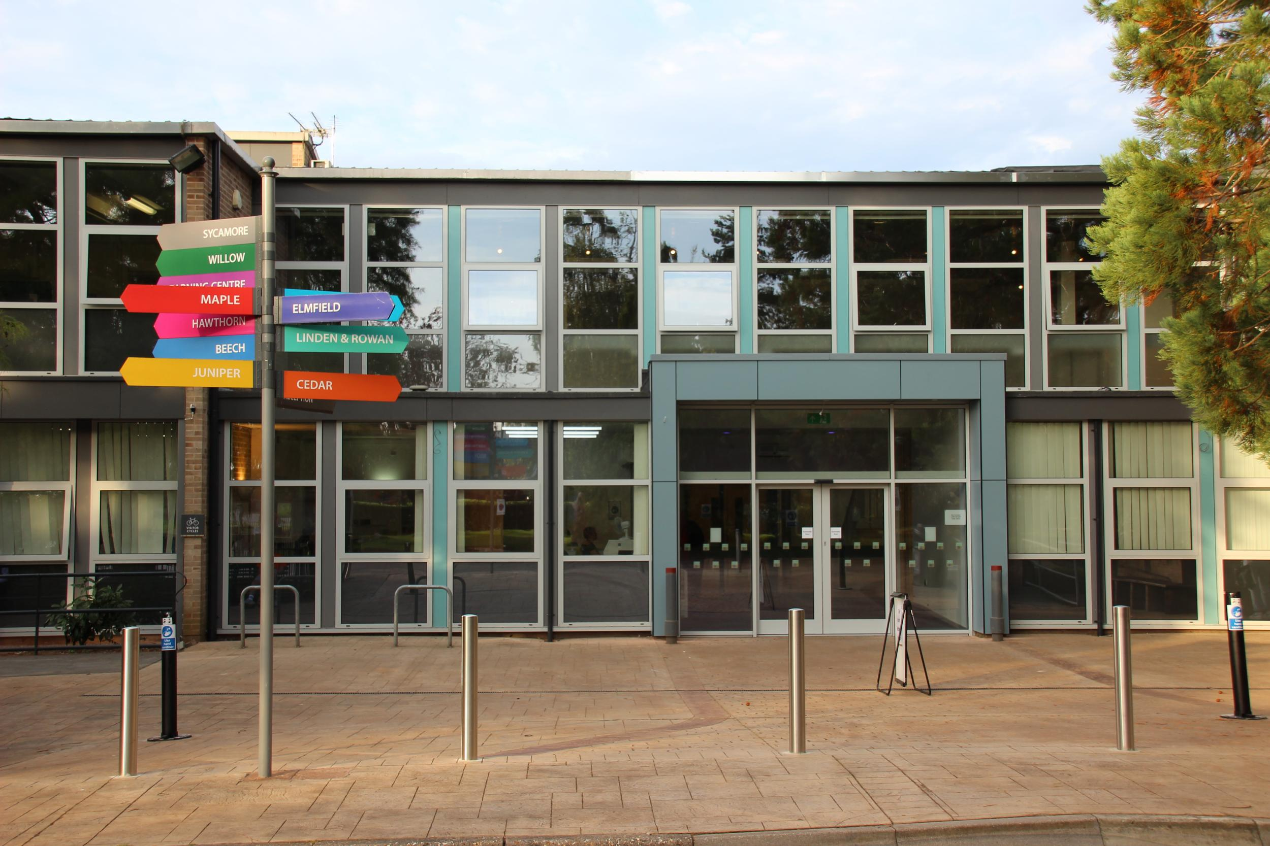 Front of Richard Huish College Reception entrance