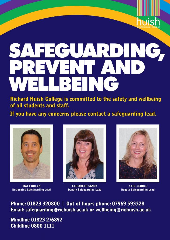 Safeguarding poster with faces of safeguarding leads