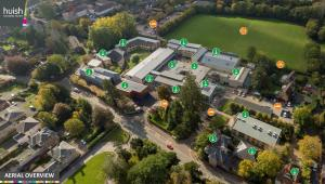 Aerial view of the College