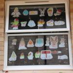 A-Z of Christmas displayed in window