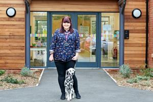 Kerry with her dalmatian