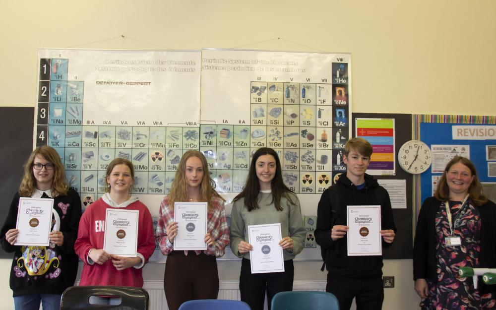 Huish students celebrate success in the National Chemistry Olympiad