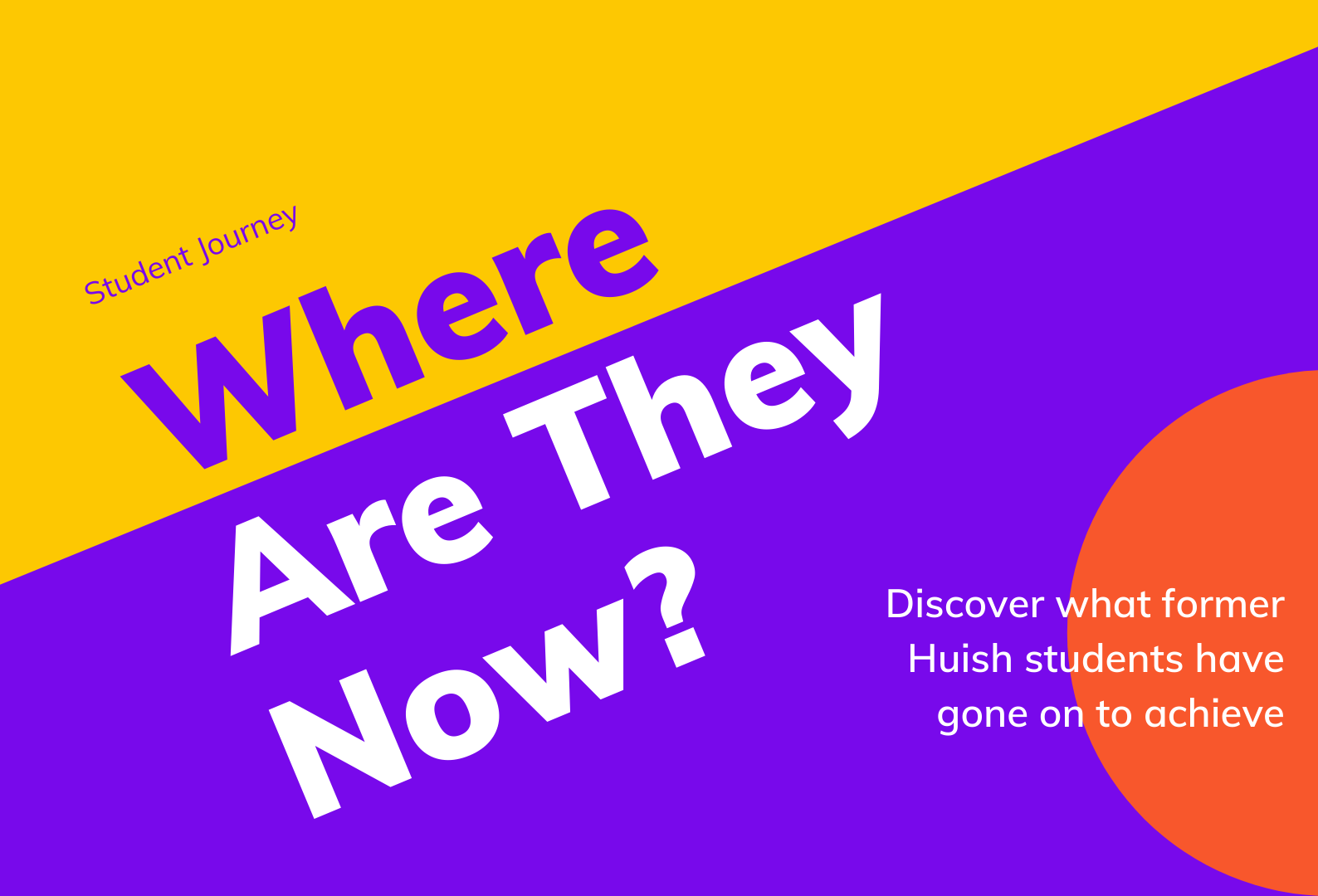 Text: Student Journey - Where are they now?