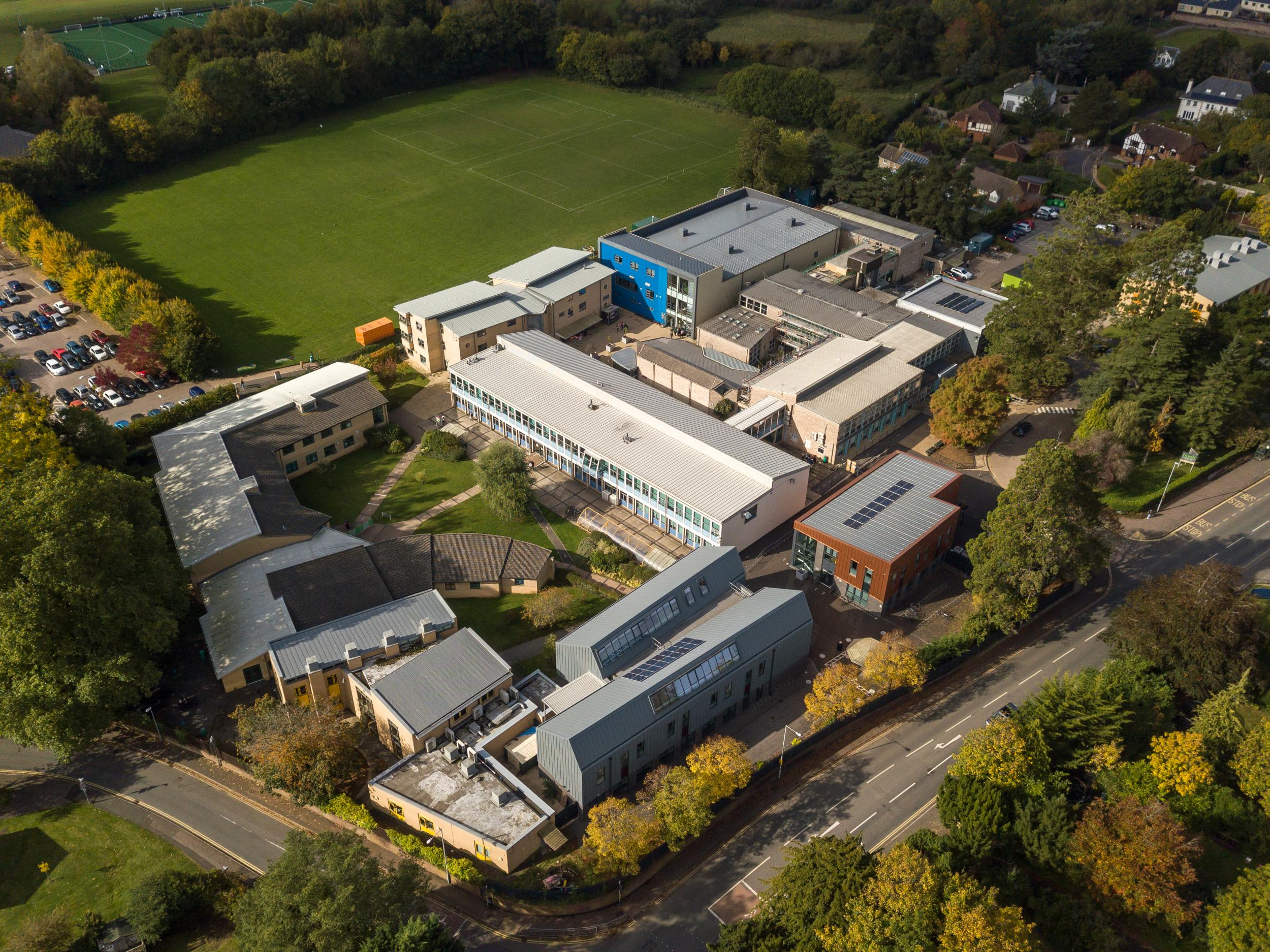 Aerial View of the Richard Huish Campus