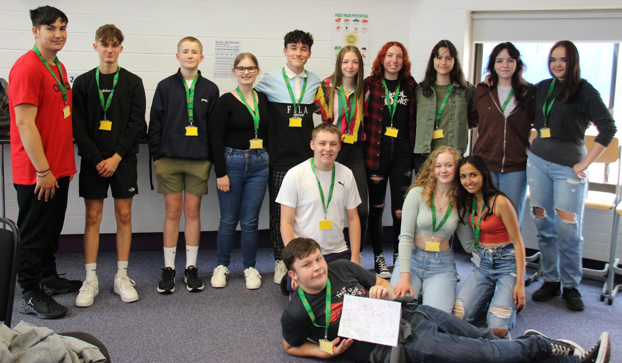 Group shot of students at Step into Huish event