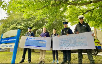 Huish student raises over £3,600 for police charities