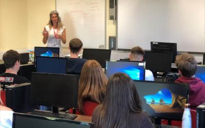 Vocational Business students gain invaluable information in guest lecture