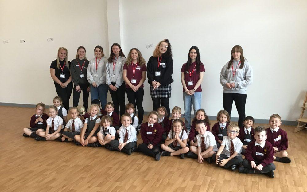 Richard Huish College students organise charity fun for Nerrols Primary School children